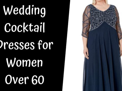 Wedding Cocktail Dresses for Women Over 60